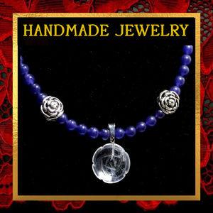 Rose & Purple Gemstone Necklace #523